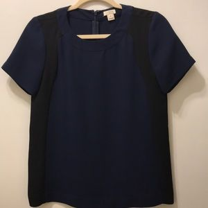 J. Crew women's navy and black work blouse
